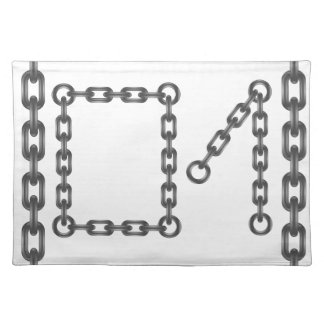 chain numbers placemat