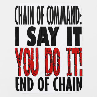 Chain of Command Flow Chart Baby Blanket