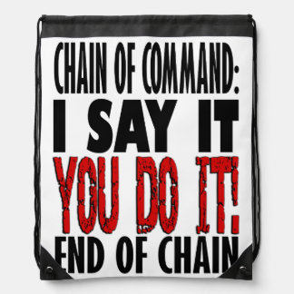 Chain of Command Flow Chart Drawstring Bag