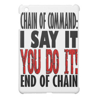 Chain of Command Flow Chart iPad Mini Cover