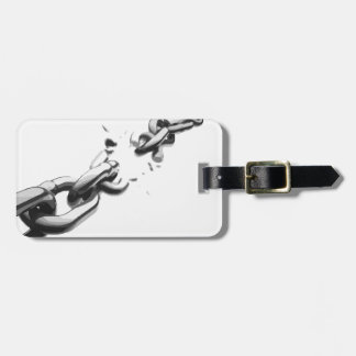 Chain of Freedom Broken Luggage Tag