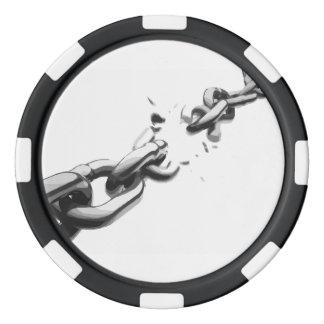 Chain of Freedom Broken Poker Chips