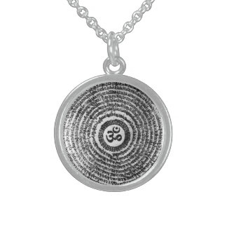 chain, om mani padme hum, mantra sterling silver necklace