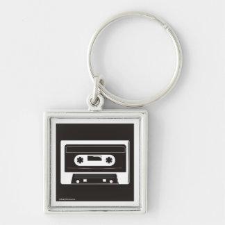 chainAtape Silver-Colored Square Keychain