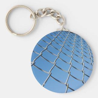 ChainBarrier050109 Basic Round Button Keychain