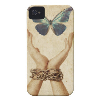 Chained Hand With Butterfly Hovering Above Case-Mate iPhone 4 Case