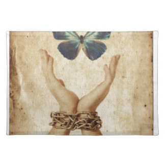 Chained Hand With Butterfly Hovering Above Placemat