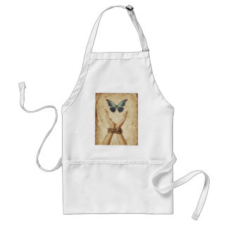 Chained Hand With Butterfly Hovering Above Standard Apron