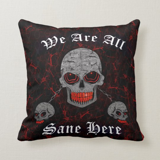 Chained Skulls Throw Pillow