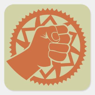 Chainring power revolution square sticker