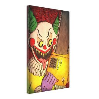 Chainsaw Clown - canvas