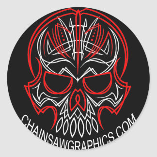 chainsaw grpahics sticker