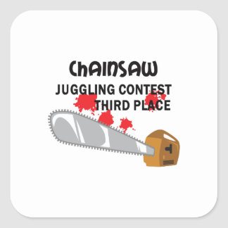 CHAINSAW JUGGLING SQUARE STICKER