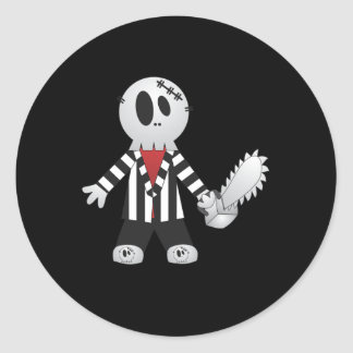 Chainsaw Killer Halloween T-shirt Round Sticker