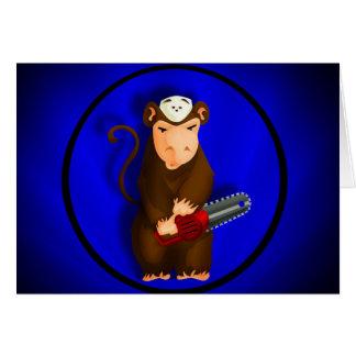 Chainsaw Monkey Card