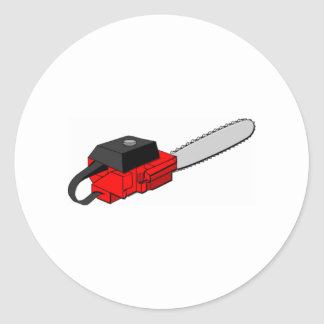 Chainsaw Round Sticker