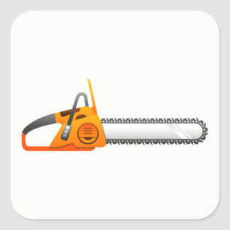 Chainsaw Square Sticker