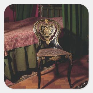 Chair, English, mid 19th century Square Sticker