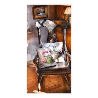 Chair - Grannies rocking chair Customized Photo Card