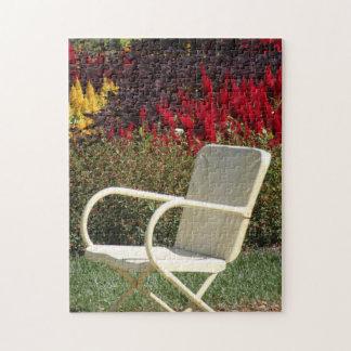 Chair in Summer Garden Jigsaw Puzzle