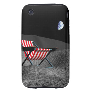 Chair on the Moon iPhone 3 Tough Cases