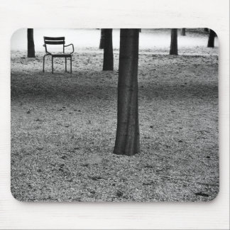 Chair, trees and garden photo Mouse mat