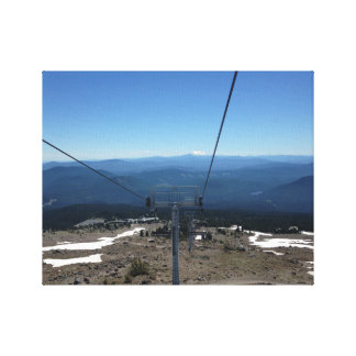 Chairlift with a view canvas print