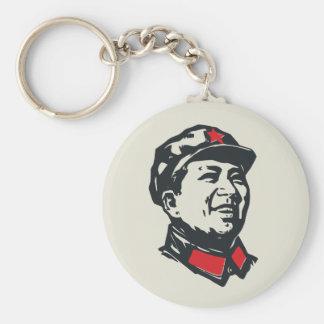 Chairman Mao Portrait Basic Round Button Keychain