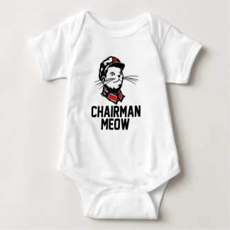 Chairman Meow (Mao) Design Baby Bodysuit
