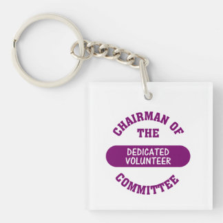 Chairman of the Dedicated Volunteer Committee Single-Sided Square Acrylic Keychain