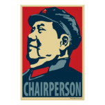 Chairperson Mao: Obama parody poster