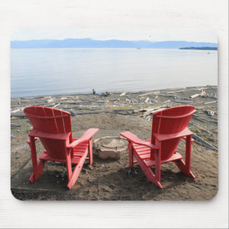 chairs on beach mouse pad