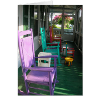 Chairs on the porch, Virginia Beach, VA Card
