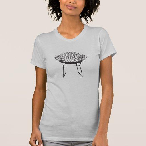 Chaise 1952 moderne de diamant de Bertoia de la mo T-shirts