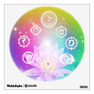 chakra aura white lotus energy system by healing wall sticker
