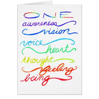 Chakra Awareness Spirit Words Custom Greeting Card