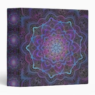 Chakra Blossom, boho, new age, spiritual 3 Ring Binders