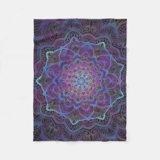 Chakra Blossom, boho, new age, spiritual Fleece Blanket