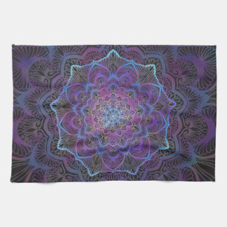 Chakra Blossom, boho, new age, spiritual Kitchen Towel