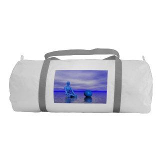 chakra blue and landscape gym bag