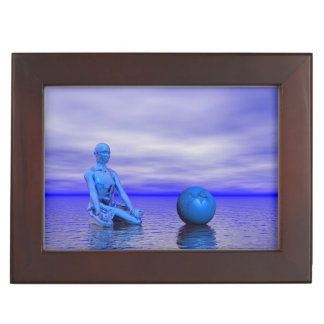 chakra blue and landscape keepsake box