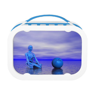 chakra blue and landscape lunch box