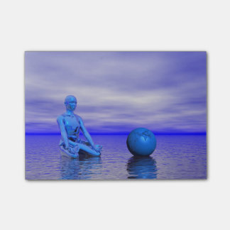 chakra blue and landscape post-it® notes