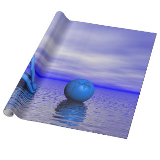 chakra blue and landscape wrapping paper