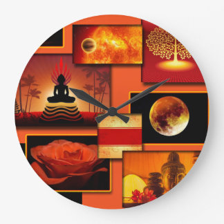 Chakra Collage Large Clock