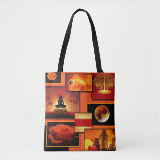 Chakra Collage Tote Bag