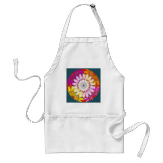 chakra colorful ending with white standard apron