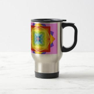 chakra colors 2 pink. Sacred Geometry Travel Mug