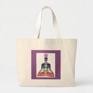 CHAKRA diagram Yoga Meditation Peace NVN630 FUN Jumbo Tote Bag