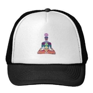 CHAKRA diagram Yoga Meditation Peace NVN630 FUN Trucker Hat